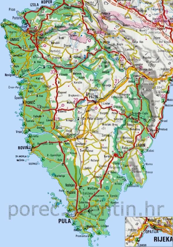 istrien karta Poreč Istrien • Istrien Autokarte istrien karta